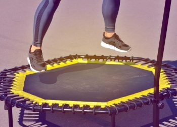 Jumping on an elastic trampoline