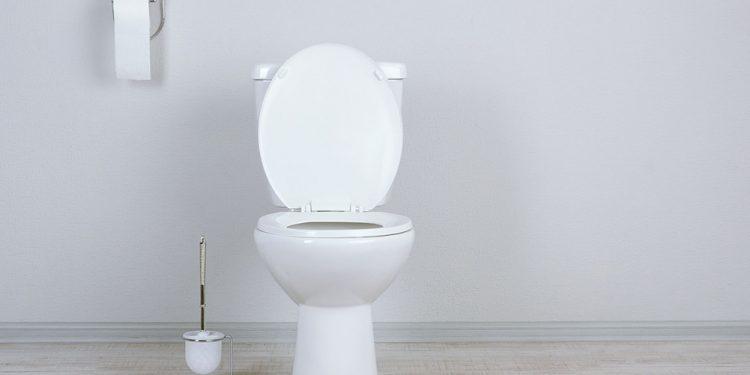 White toilet in a bathroom