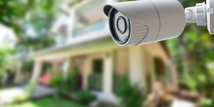 security camera outside a house