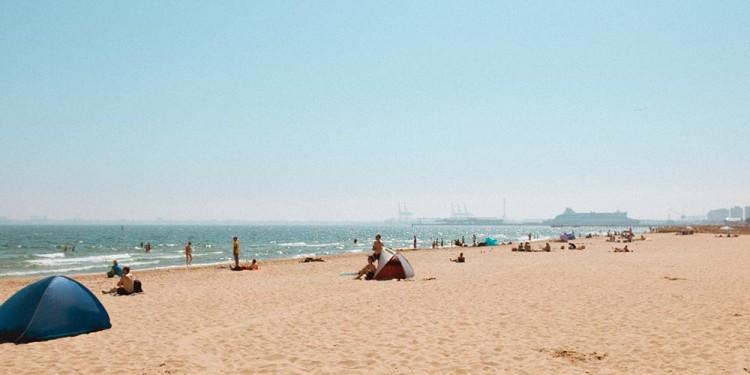 beach tent on the beach