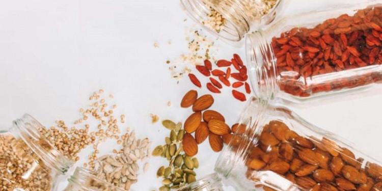 jars of dried fruits