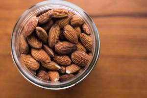 jar of almonds