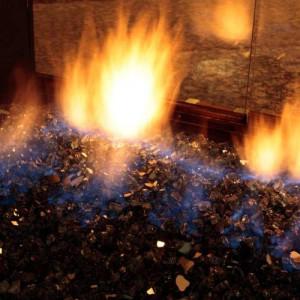 Inside of a Gas Fireplace